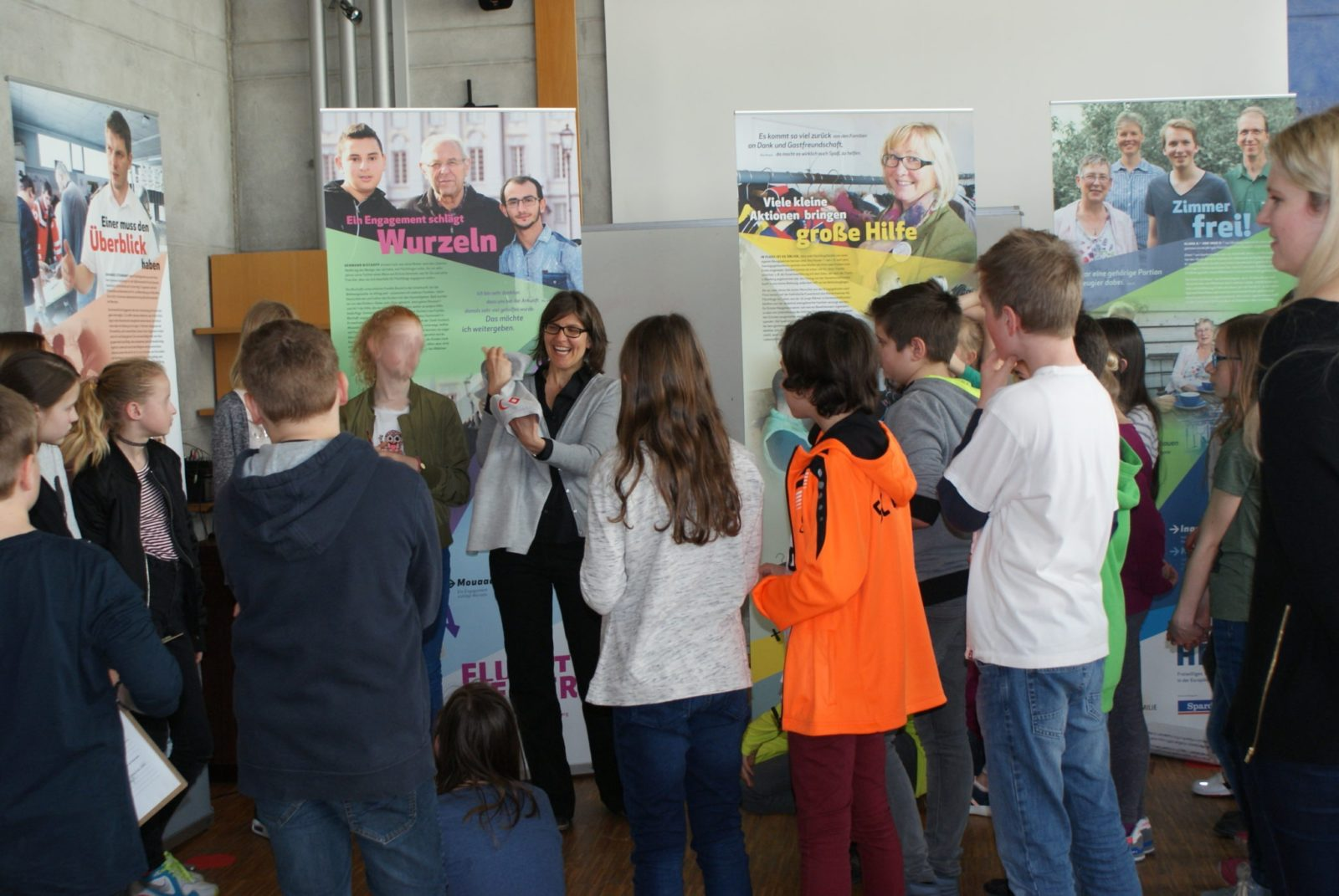 FluchtHELFER-Ausstellung im Gymnasium Höchstadt a. d. Aisch