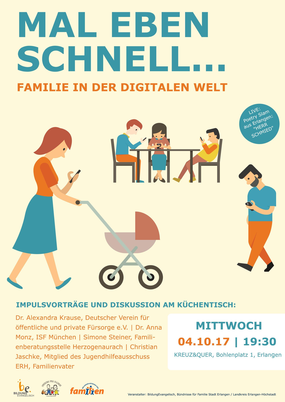 Mal eben schnell... - Familie in der digitalen Welt | Mittwoch 04.10.17 | 19:30