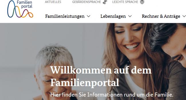 Neues Familienportal